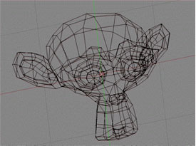 Monkey modelled as a surface