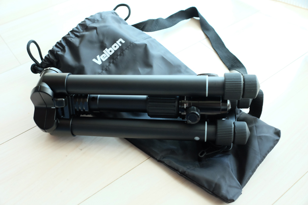 カメラ三脚Velbon UT-53Q購入 コンパクトで旅行にも普段にもぴったり♪
