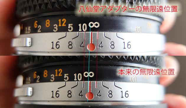 OMレンズをつけてみた_実写編_八仙堂のマウントアダプターの無限遠位置のずれ
