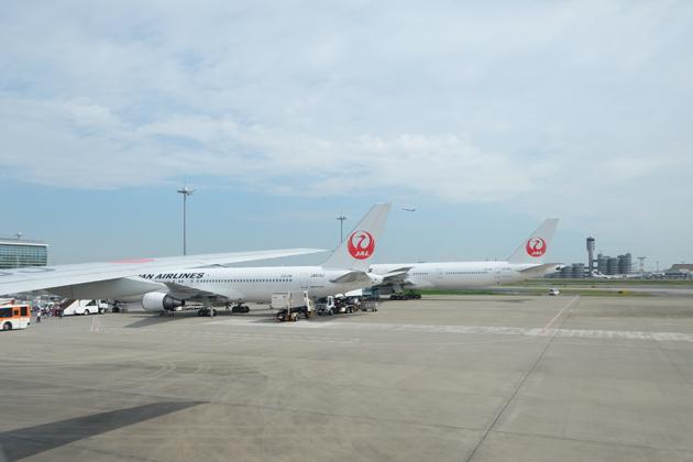 日本航空_JL29_東京/羽田⇒香港_停止中に撮影