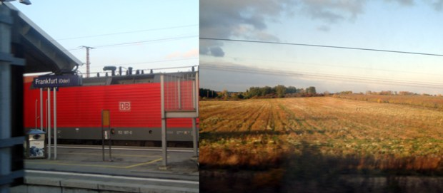 MOSKVA EXPRESS(モスクワエクスプレス) ドイツ出国 駅と田園風景