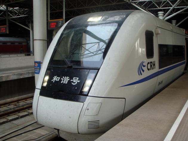 杭州→上海 新幹線(和階号) フロントは汚れっぱなし