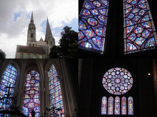 Chartres シャルトル 大聖堂 ステンドグラスは想像以上の美しさ