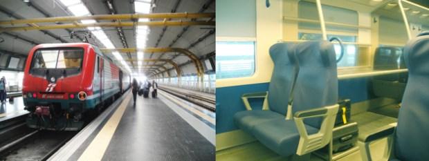 ローマ空港線 レオナルド・ダビンチ・エキスプレス 車内は想像よりボロい。。。