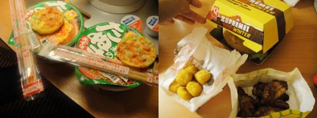 年越し 日本から持ってきた麺とクイック