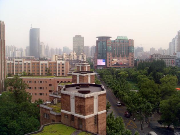 錦江飯店 窓からの景色は中国じゃないみたい