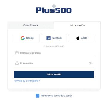 Abrir una cuenta de Plus500