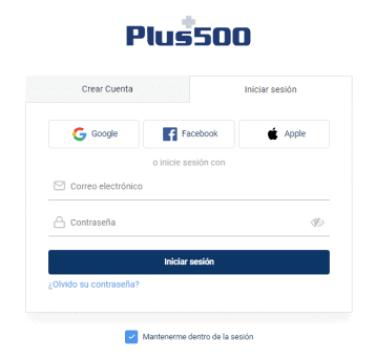 trader web Registro de Plus500