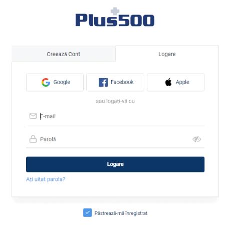 Deschide un cont Plus500