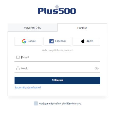 Otevřít účet Plus500
