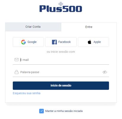 Abrir uma conta Plus500