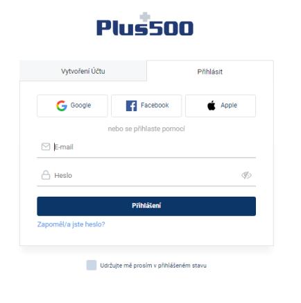 Plus500 web trader registrace