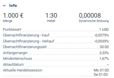 Währungspaar-Informationen