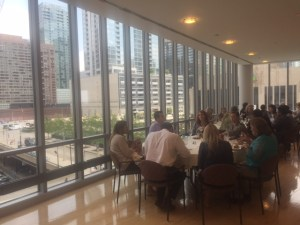 PLUS U Attendees Enjoy Lunch and View of Chicago