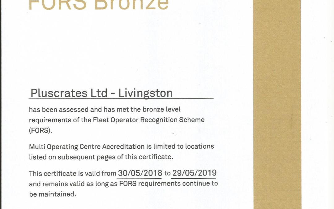 Scotland depot achieves FORS Bronze accreditation