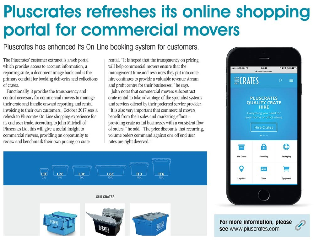 Pluscrates Online shop article for R and S