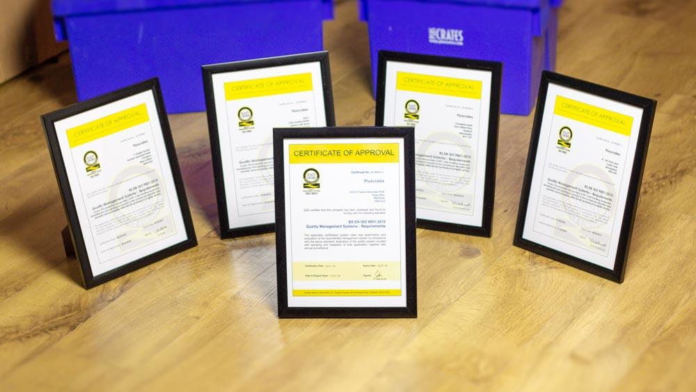 Pluscrates ISO Certificates