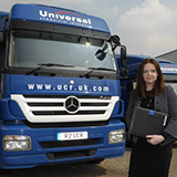 Universal Commercial Relocation - Sarah Cole with UCR Truck