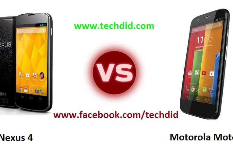 LG Nexus 4 VS Motorola Moto G which is better?