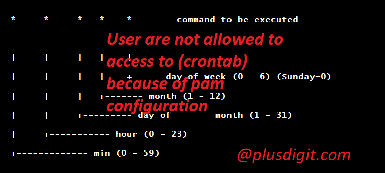 User are not allowed to access to (crontab) because of pam configuration – Solved