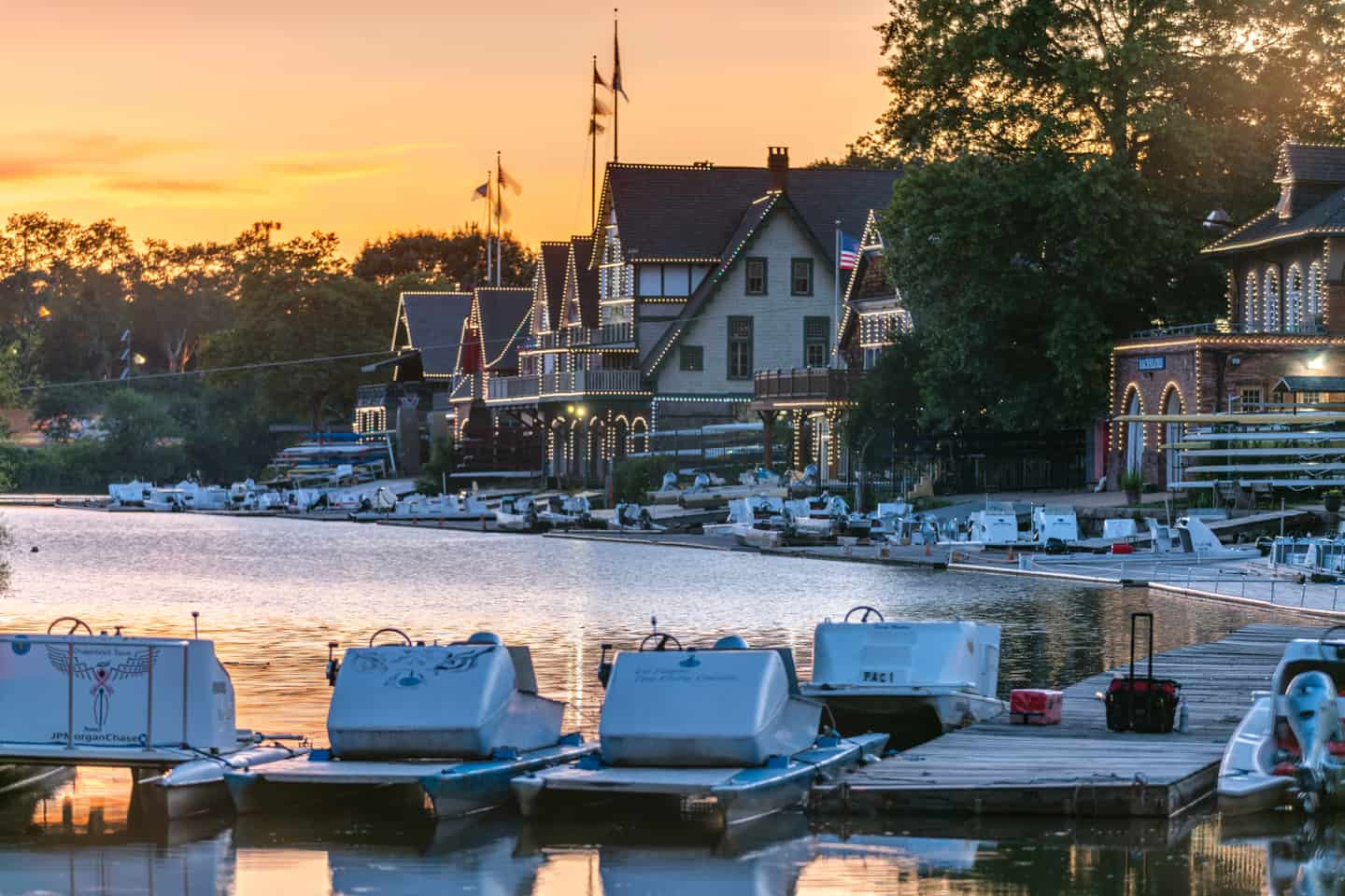 Photo of Philadelphia Landmark - Boathouse Row