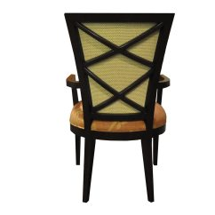 Double X Back Chairs Printed Accent Plush Home Carlisle Dining Arm Chair
