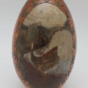 """Деревянное пасхальное яйцо в русском стиле """"Христос Воскресе"""""""
