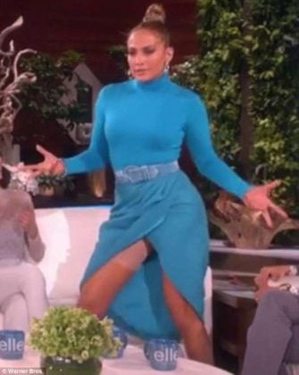 Jennifer Lopez Suffers Embarrassing Wardrobe Malfunction On 'Ellen' (Video+Photo)