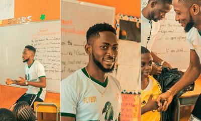 #BBNaija: Flyboy Miracle Igbokwe Visits Schools, Reveals What He Has Been Up To
