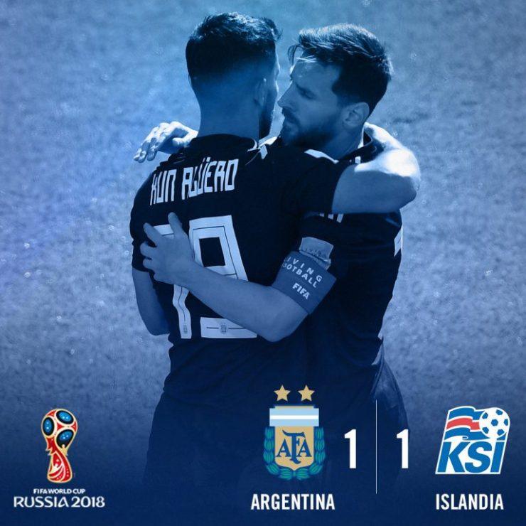 Argentina vs Iceland 1-1