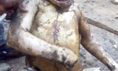 Can You Eat This Please? Guys Seen Roasting Gorilla In Warri