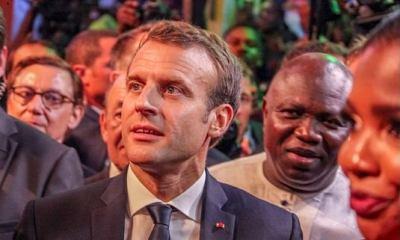 French President Emmanuel Macron, Posed Like Fela Kuti After World Cup (Photos)