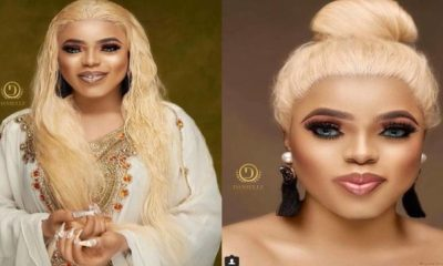 """Bloggers Are Jobless"" - Bobrisky Says After Releasing Unedited Photos To Prove His Skin Is Flawless"