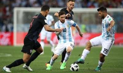 Lionel Messi Sergio Aguero Ivan Rakitic and Dejan Lovren