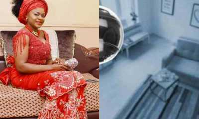 Nigerian lady heartbroken after CCTV reveals her housemaid having sex and maltreating her baby