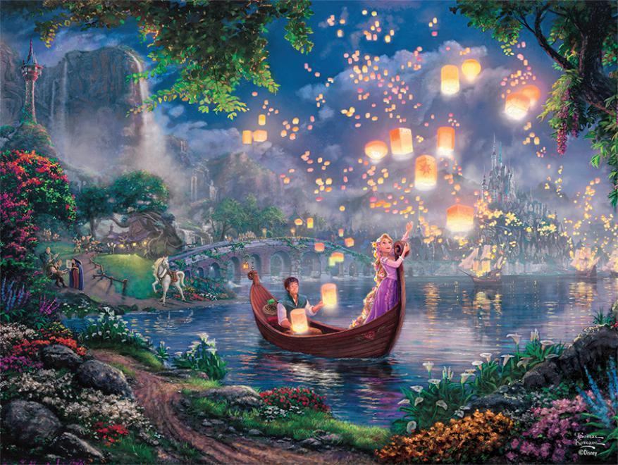Disney 1000pc Rapunzel Thomas Kinkade Puzzle