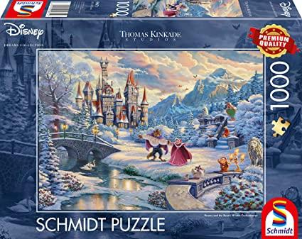 Disney Beauty and the Beast Thomas Kinkade puzzle