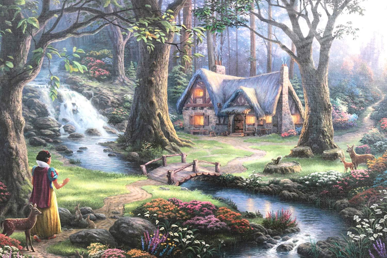 Disney 1000pc Snow White Thomas Kinkade Puzzle
