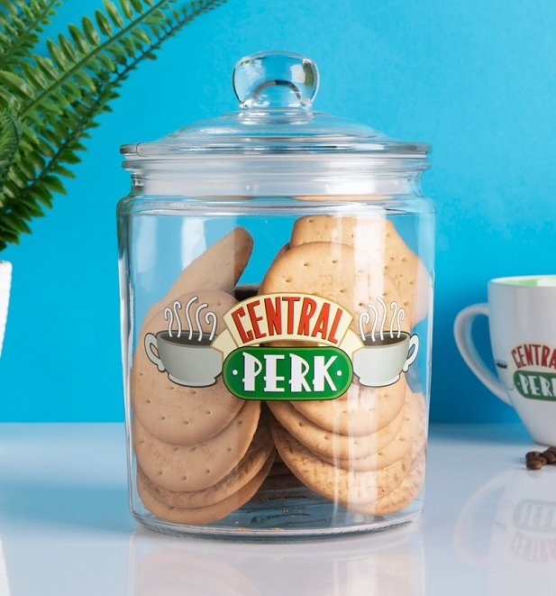 Friends Glass Central Perk Biscuit Barrel