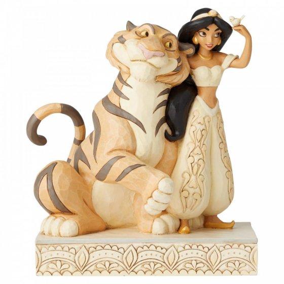 Jasmine and Rajah Figurine - Wondrous Wishes - Aladdin