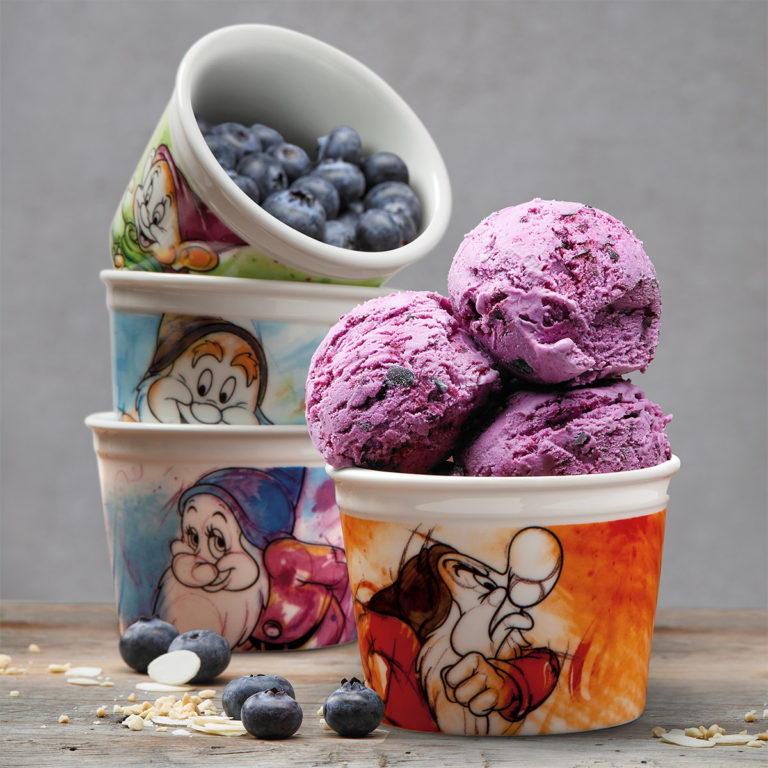 Ice Cream Sleepy cup With Spoon 7 Dwarfs - Disney Home