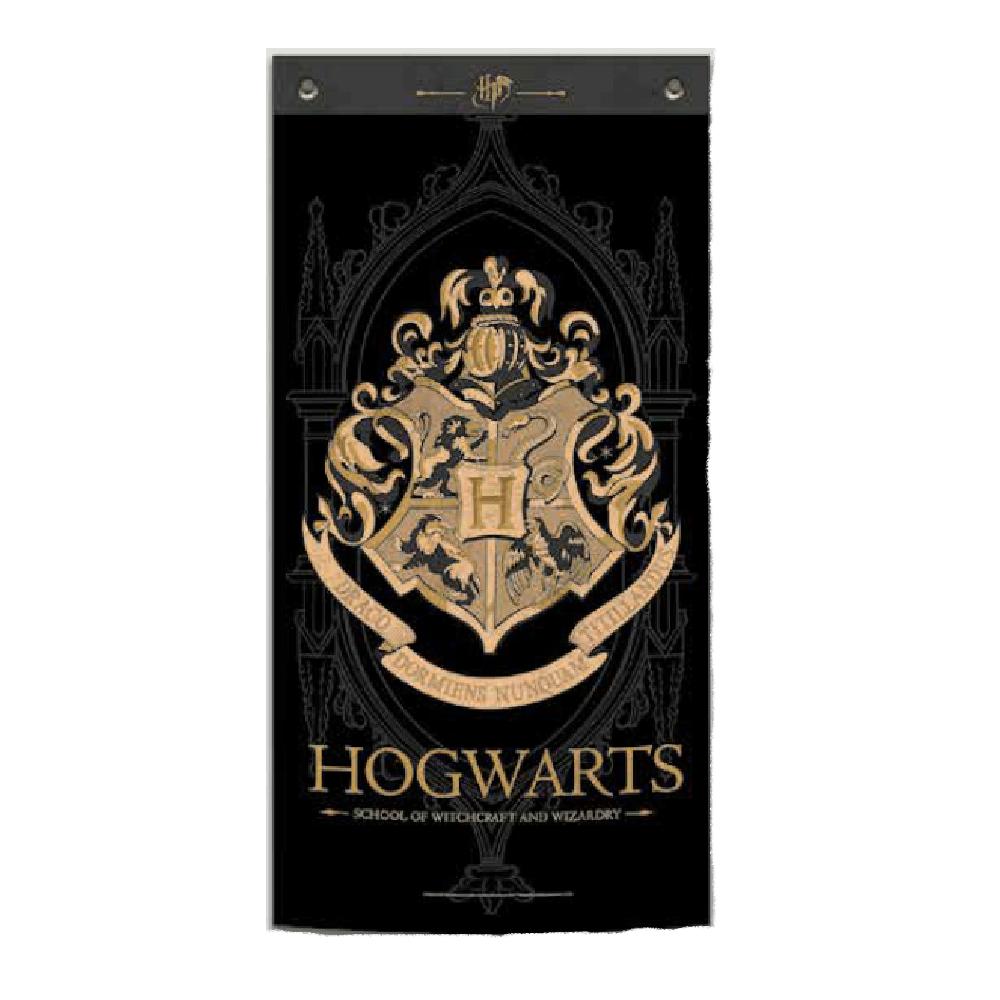 Hogwarts Fabric Wall Banner Black - Harry Potter
