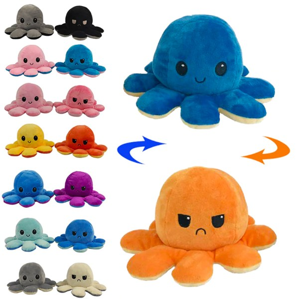 Reversible Emotional Octopus Doll