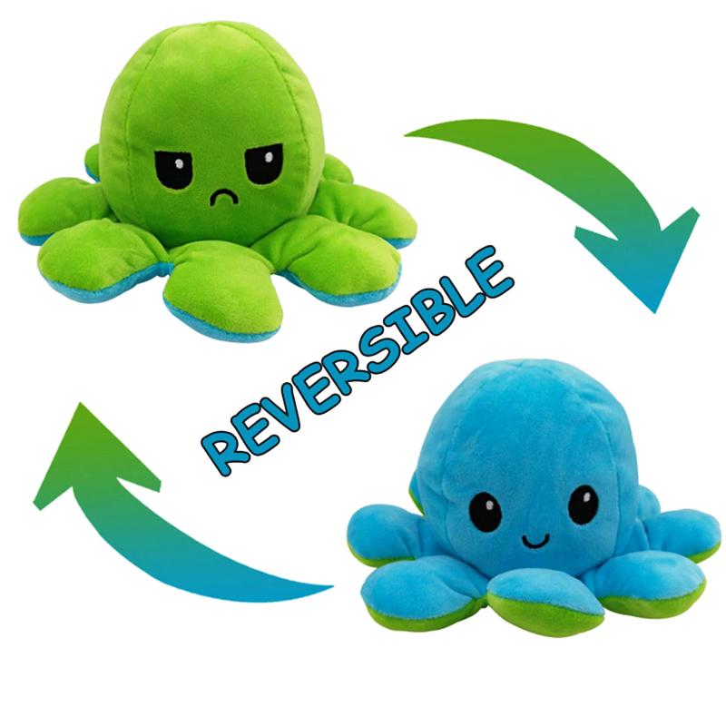 Green & Aqua Reversible Octopus