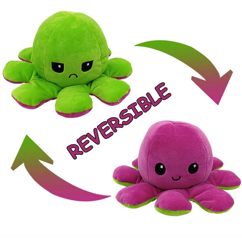 Green & Purple Reversible Octopus