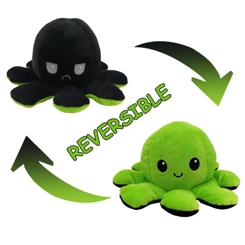 Black & Green Reversible Octopus