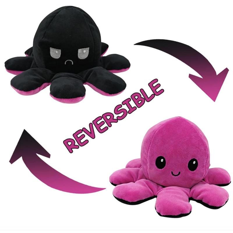 Black & Purple Reversible Octopus