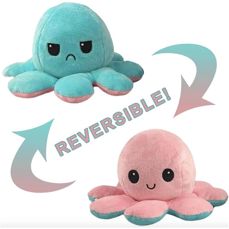 Reversible Mood Octopus Pink & Green