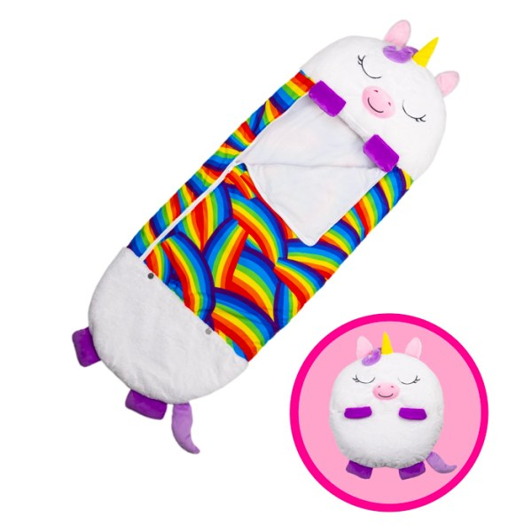 White Unicorn Sleeping Bag Plush Toy