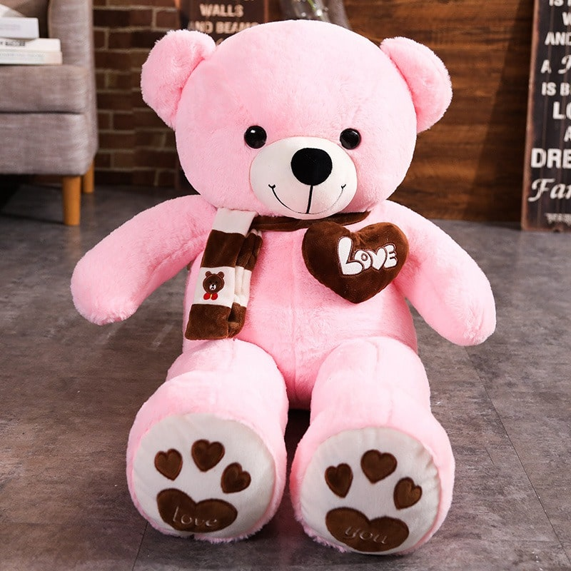 Pink Stuffed Teddy Bear Plush Toy - I Love You